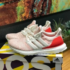Adidas Ultraboost Red Multi Tennis Shoes NEW 8.5